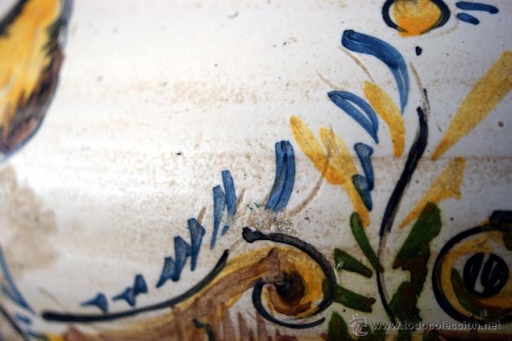 Antigüedades: GRAN CÁNTARO TRIANA - DECORACIÓN DE AVES ZANCUDAS S. XIX - Foto 7 - 54193598