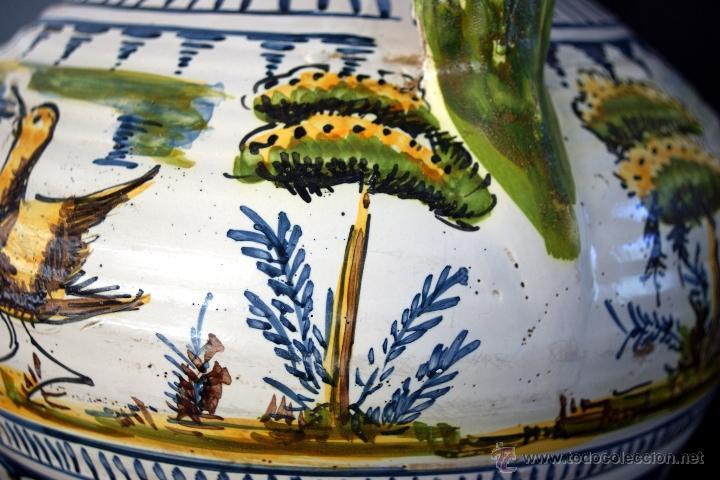 Antigüedades: GRAN CÁNTARO TRIANA - DECORACIÓN DE AVES ZANCUDAS S. XIX - Foto 10 - 54193598