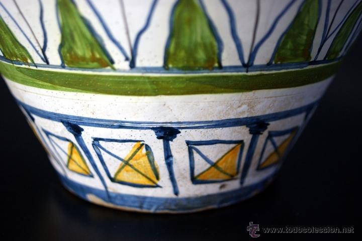 Antigüedades: GRAN CÁNTARO TRIANA - DECORACIÓN DE AVES ZANCUDAS S. XIX - Foto 12 - 54193598