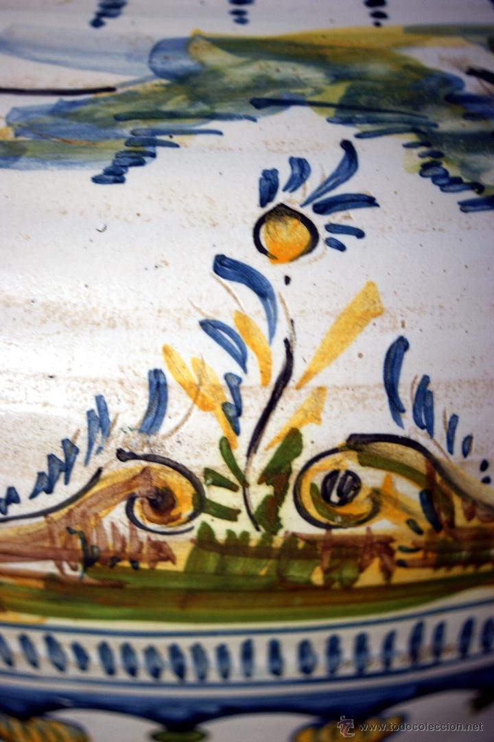 Antigüedades: GRAN CÁNTARO TRIANA - DECORACIÓN DE AVES ZANCUDAS S. XIX - Foto 21 - 54193598