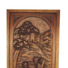 Antigüedades: PLACA TALLADO DE ROBLE SIGLO XIX. Lote 54195208