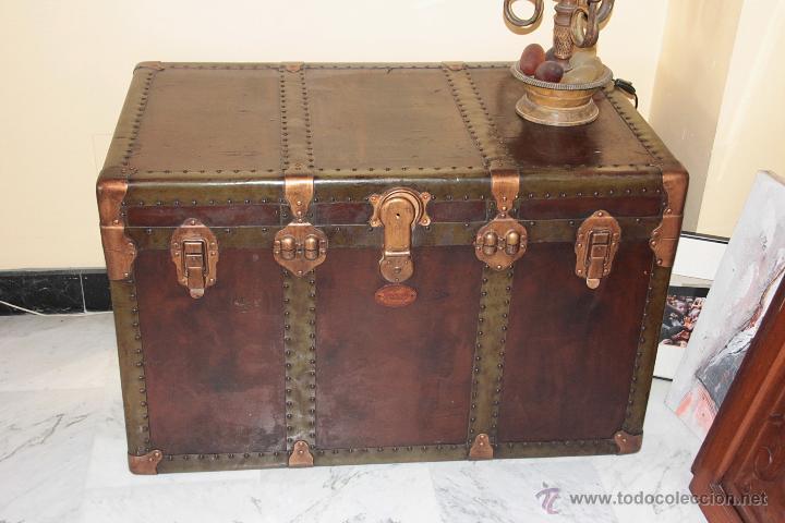 Antiguo baul de viaje restaurado comprar ba les antiguos - Fotos de baules ...