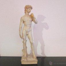 Antigüedades: FIGURA DE DAVID 37 CENTIMETROS DE ALTURA APROXIMADAMENTE. Lote 54201919