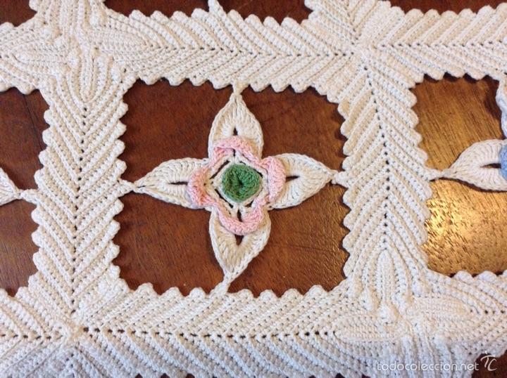Antigüedades: Tapete ganchillo en forma estrella y colores - Foto 3 - 54202975