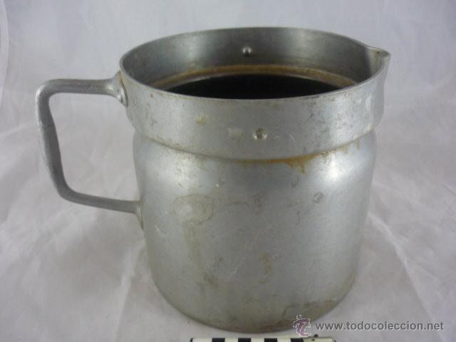 Antigüedades: Antigua Jarra Aluminio - 14cmx14cm - Foto 2 - 54204059