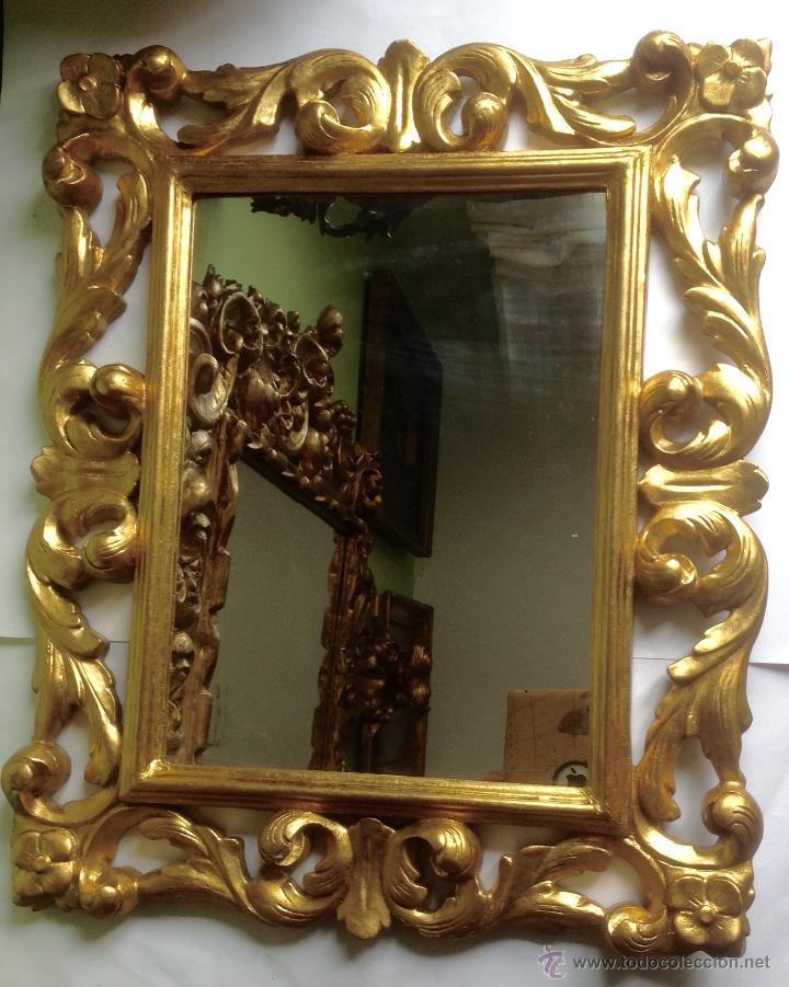 Antiguo y gran espejo barroco siglo xix mader comprar for Espejo barroco