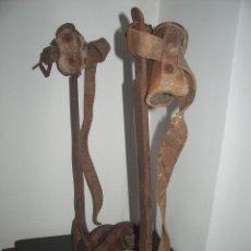 Antigüedades: ESTRIBOS DE FORJA, TREPAR PALMERAS. Lote 54227711