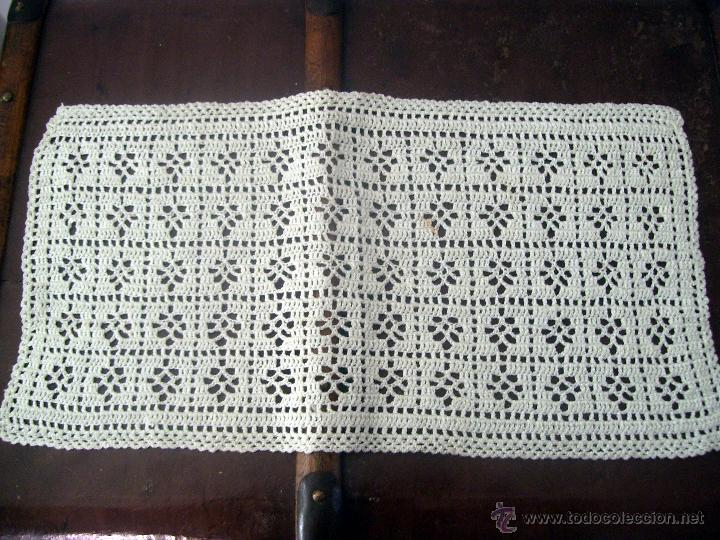 Tapete croche ganchillo rectangular 52 x 27 c comprar for Tapetes de ganchillo