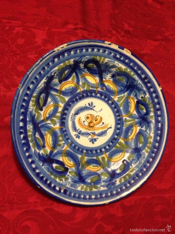 ANTIGUO PLATO DE TRIANA (Antigüedades - Porcelanas y Cerámicas - Triana)
