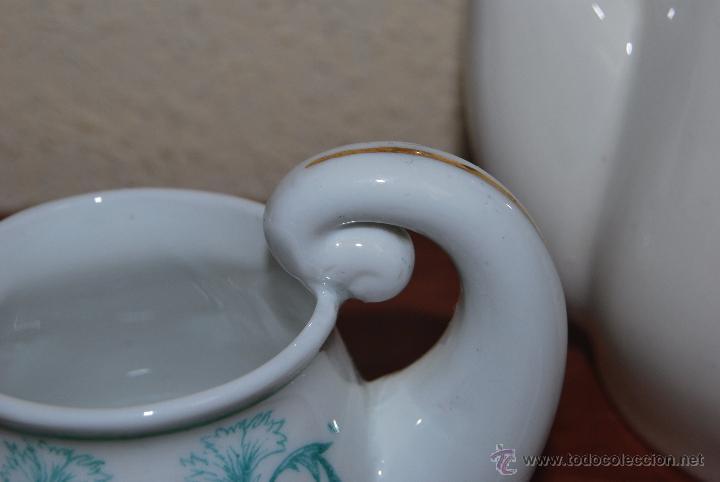 Antigüedades: JUEGO DE CAFÉ O TÉ DE PORCELANA O CASTRO - CAFETERA LECHERA AZUCARERO Y TAZAS - AÑOS 50 - SARGADELOS - Foto 11 - 54245862