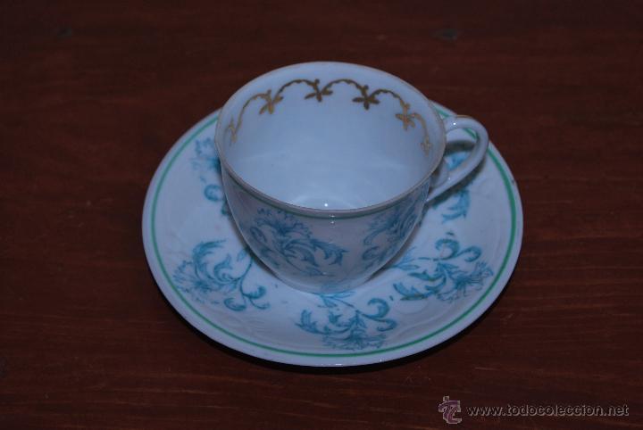 Antigüedades: JUEGO DE CAFÉ O TÉ DE PORCELANA O CASTRO - CAFETERA LECHERA AZUCARERO Y TAZAS - AÑOS 50 - SARGADELOS - Foto 19 - 54245862