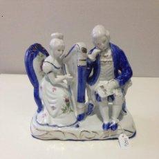 Antigüedades: PAREJA DE MUSICOS EN CERAMICA. Lote 54252763