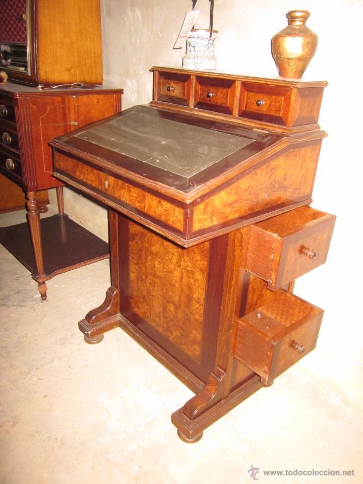 Mueble escritorio de madera noble cl sico de ca comprar for Mueble para escritorio