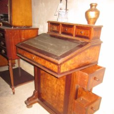 Antigüedades: MUEBLE ESCRITORIO DE MADERA NOBLE CLÁSICO DE CALIDAD --- PRECIOSO. Lote 54255672