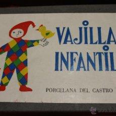 Antigüedades: VAJILLA INFANTIL, PORCELANA DE CASTRO SARGADELOS 5 PIEZAS. Lote 54255679