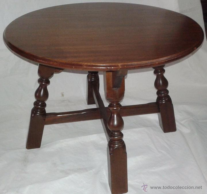 mesa pequeña redonda, mediados del siglo xx - Comprar Mesas Antiguas ...