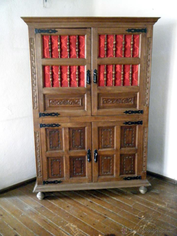 Alacena aparador librer a estilo castellano comprar - Muebles castellanos antiguos ...