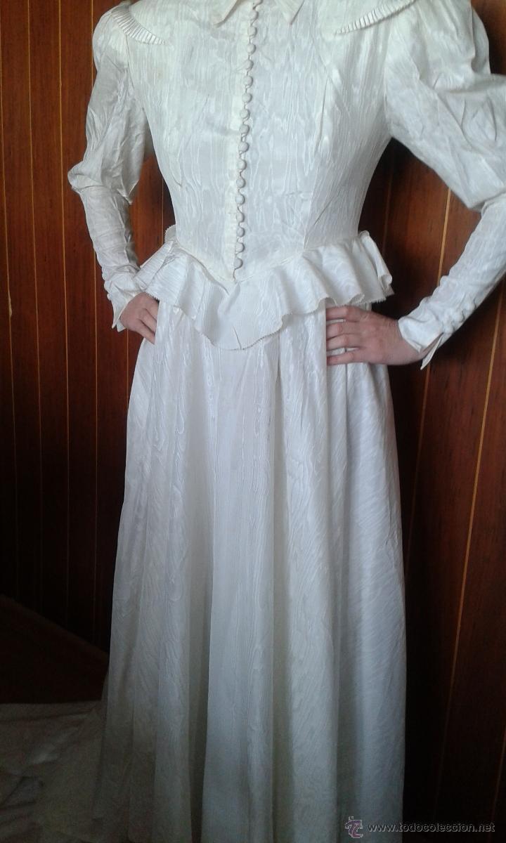 antiguo y precioso vestido de novia, de seda, h - Comprar Moda ...