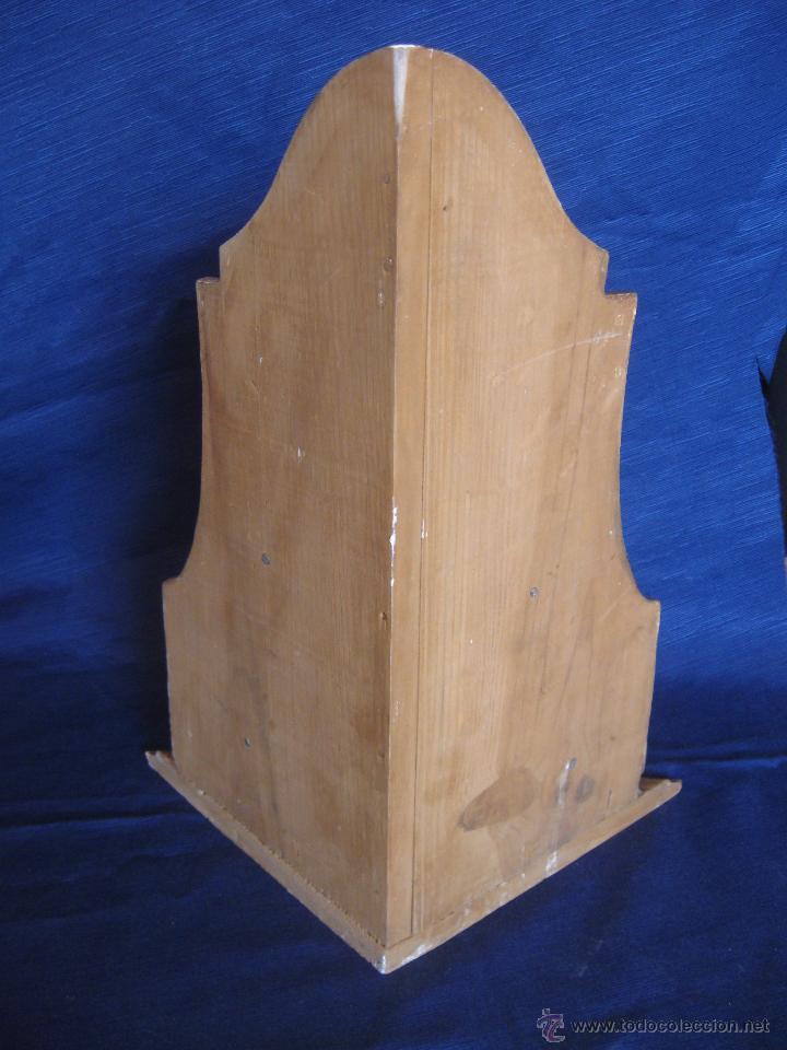 Antigüedades: Ménsula de madera policromada S XVIII - Foto 3 - 54291255