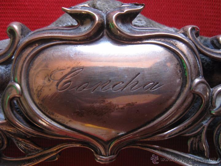 Antigüedades: Portafotos modernista de plata labrada - Foto 2 - 54291565