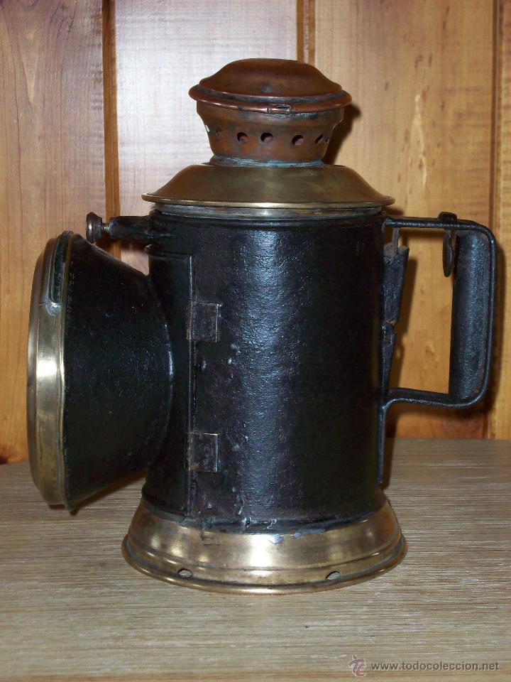 Antigüedades: FAROL FERROVIARIO ANTIGUO - Foto 4 - 54292853