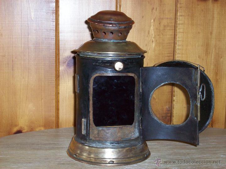 Antigüedades: FAROL FERROVIARIO ANTIGUO - Foto 5 - 54292853