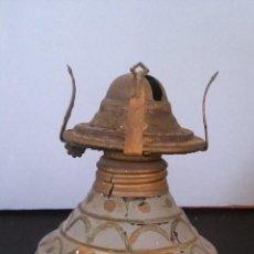 Antigüedades: PEQUEÑO QUINQUÉ PINTADO A MANO . Lote 54298068