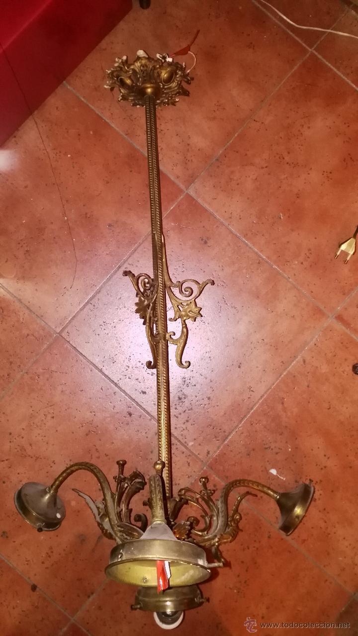 Antigüedades: LÁMPARA DE TECHO ANTIGUA - Foto 4 - 47556809