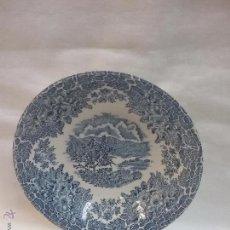 Antigüedades: CUENCO DE PORCELANA EIT ENGLAND CON SELLO. Lote 54315267