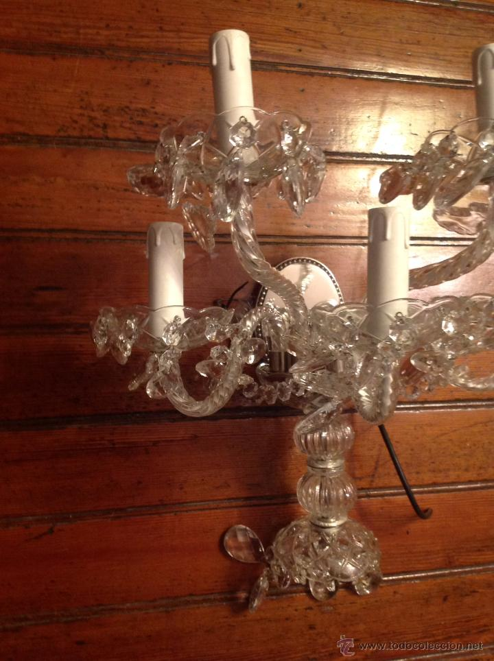 Antigüedades: gran aplique de cristal de cinco luces (2) - Foto 2 - 54336710