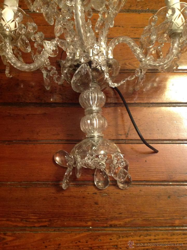 Antigüedades: gran aplique de cristal de cinco luces (2) - Foto 3 - 54336710