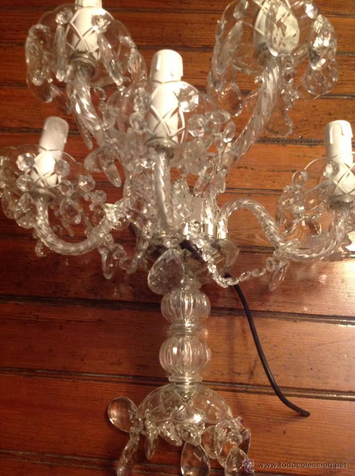 Antigüedades: gran aplique de cristal de cinco luces (2) - Foto 4 - 54336710