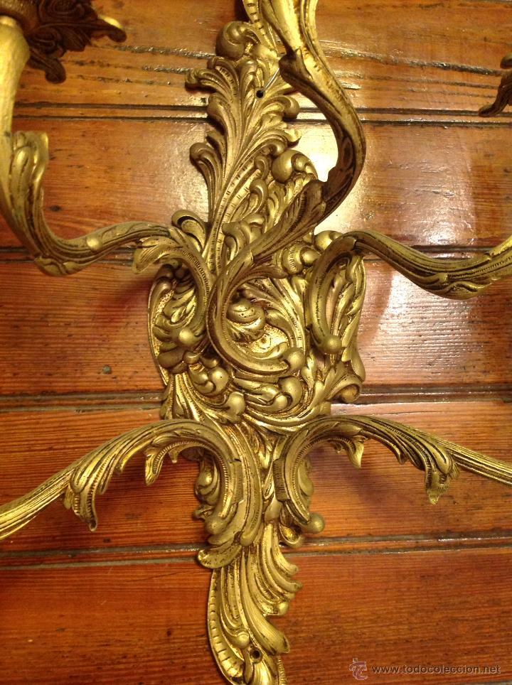 Antigüedades: gran aplique de BRONCE ESTILO LUIS V de cinco luces (2) - Foto 3 - 54336798