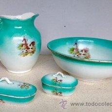 Antigüedades: JUEGO DE LAVABO DE LA CARTUJA PICKMAN. ESCUCHAREMOS OFERTAS RAZONABLES.. Lote 54339070