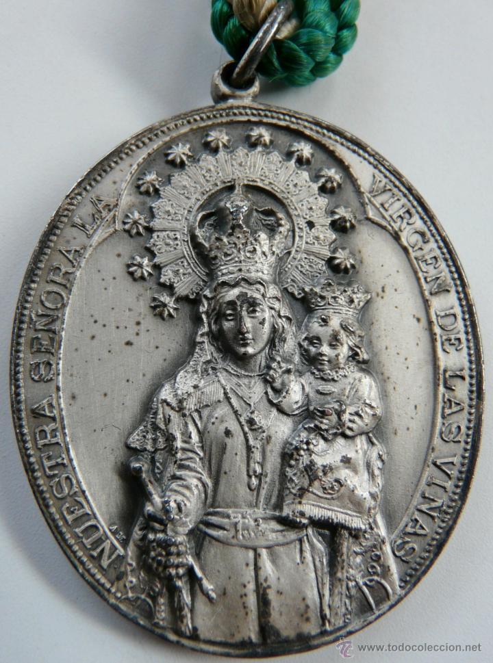 MEDALLA NUESTRA SEÑORA LA VIRGEN DE LAS VIÑAS (Antigüedades - Religiosas - Medallas Antiguas)