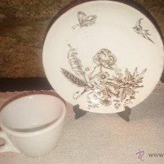 Antigüedades: TAZA Y PLATO DE CAFE PICKMAN.. Lote 54377372