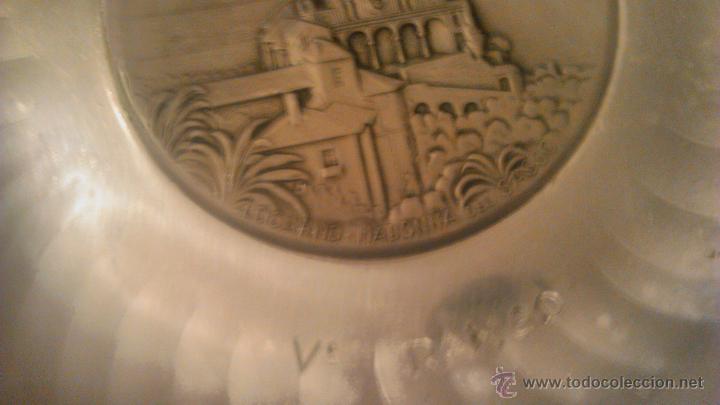 Antigüedades: PLATO DE METAL,DECORATIVO.SIGG SWITZERLAND SIGAL HAND HAMMERED.1954 locarno madonna del sasso. - Foto 4 - 54378897
