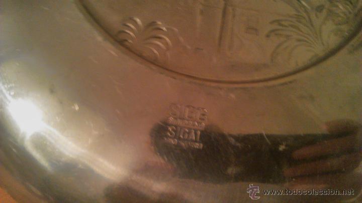 Antigüedades: PLATO DE METAL,DECORATIVO.SIGG SWITZERLAND SIGAL HAND HAMMERED.1954 locarno madonna del sasso. - Foto 5 - 54378897
