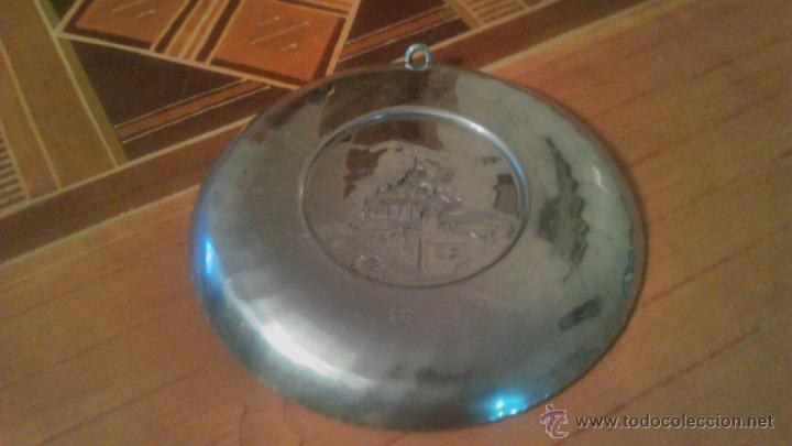 Antigüedades: PLATO DE METAL,DECORATIVO.SIGG SWITZERLAND SIGAL HAND HAMMERED.1954 locarno madonna del sasso. - Foto 6 - 54378897