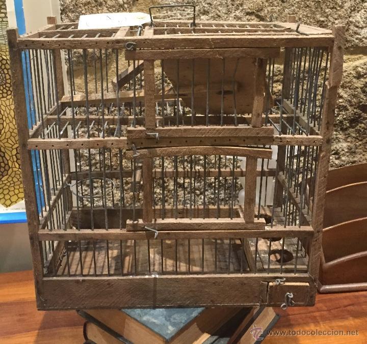 jaula para pjaros de dos pisos antigedades tcnicas rsticas caza