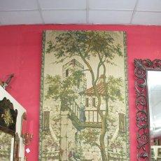 Antigüedades: TAPIZ MUY ANTIGUO EN PERFECTO ESTADO. Lote 54389560