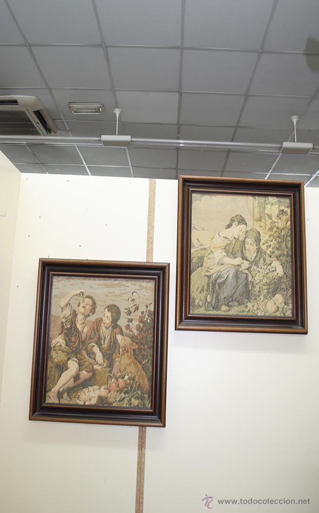 Antigüedades: TAPICES ANTIGUOS EN PERFECTO ESTADO - Foto 2 - 54389878