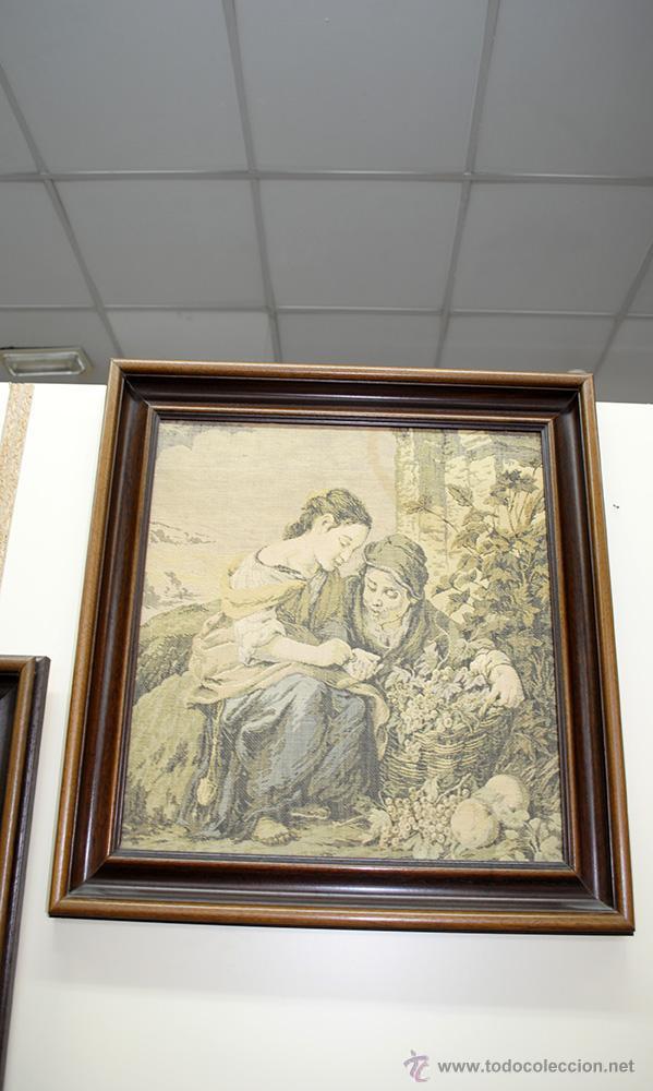 Antigüedades: TAPICES ANTIGUOS EN PERFECTO ESTADO - Foto 3 - 54389878