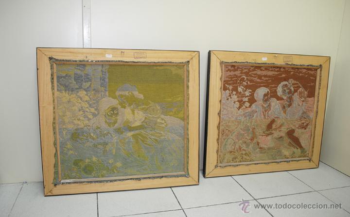 Antigüedades: TAPICES ANTIGUOS EN PERFECTO ESTADO - Foto 7 - 54389878