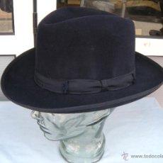 Antigüedades: ANTIGUO SOMBRERO BORSALINO GRAND LUXE CHARLES ALGER. Lote 120865860