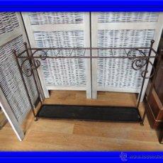 Antigüedades: PARAGUERO BASTONERO DE HIERRO. Lote 54391502