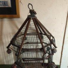 Antigüedades: JAULA PÁJAROS TIPO PAGODA. Lote 54406265