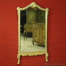 Antigüedades: GRAN ESPEJO LACADO Y DORADO ITALIANO DEL SIGLO XX. Lote 54406859