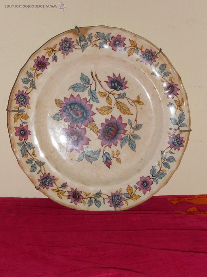 ANTIGUO PLATO DE PORCELANA BRITT IROSTONE SAN CLAUDIO . (Antigüedades - Porcelanas y Cerámicas - San Claudio)