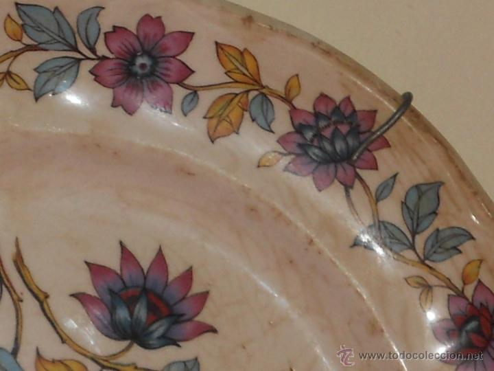 Antigüedades: ANTIGUO PLATO DE PORCELANA BRITT IROSTONE SAN CLAUDIO . - Foto 4 - 54408677